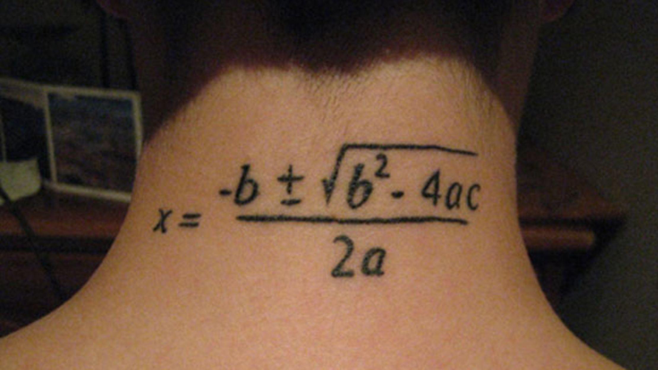 11 Great Geeky Math Tattoos
