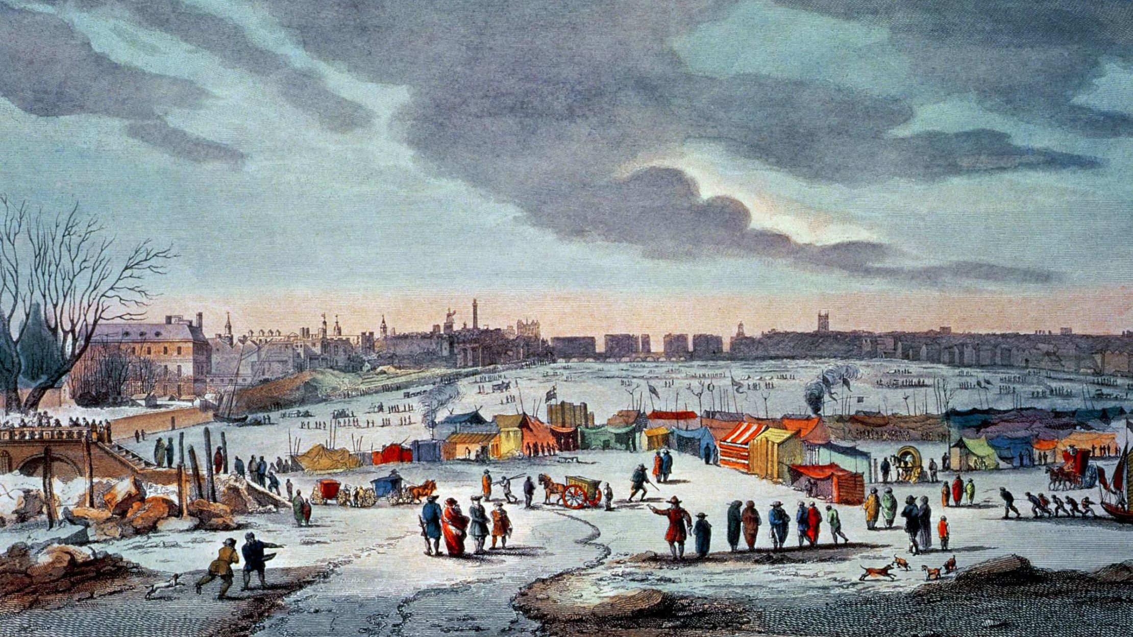 When the River Thames Froze, Londoners Held Frost Fairs