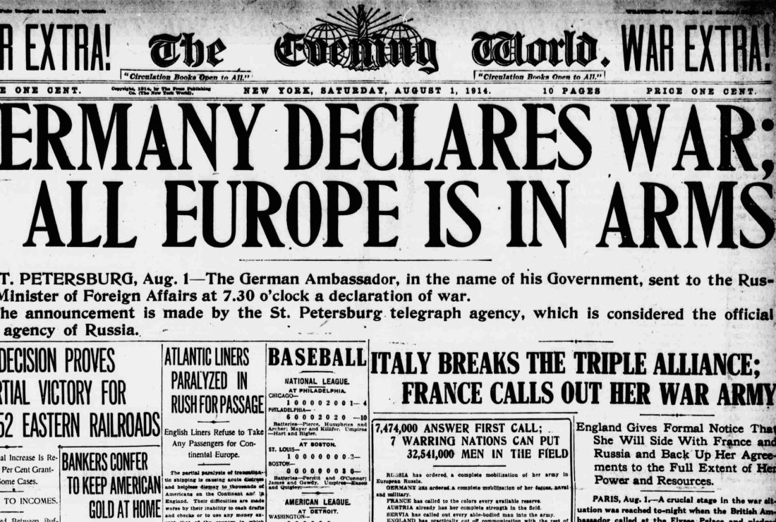 WWI Centennial: France Mobilizes, Germany Declares War on