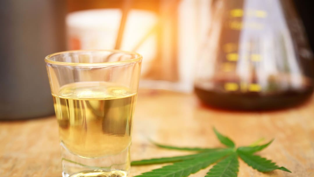 Most weed wines strip out the alcohol, so you don't have to worry about a crossfade.