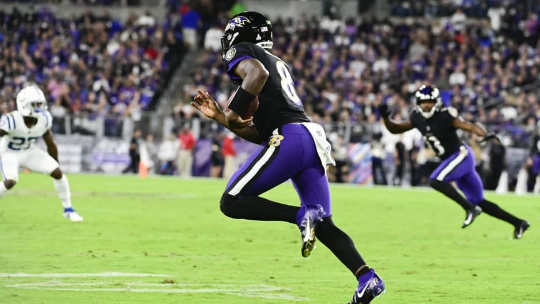 Baltimore Ravens quarterback Lamar Jackson saw his NFL MVP odds move from +2000 last week to +1200 this week at WynnBET Sportsbook | Tommy Gilligan-USA TODAY Sports
