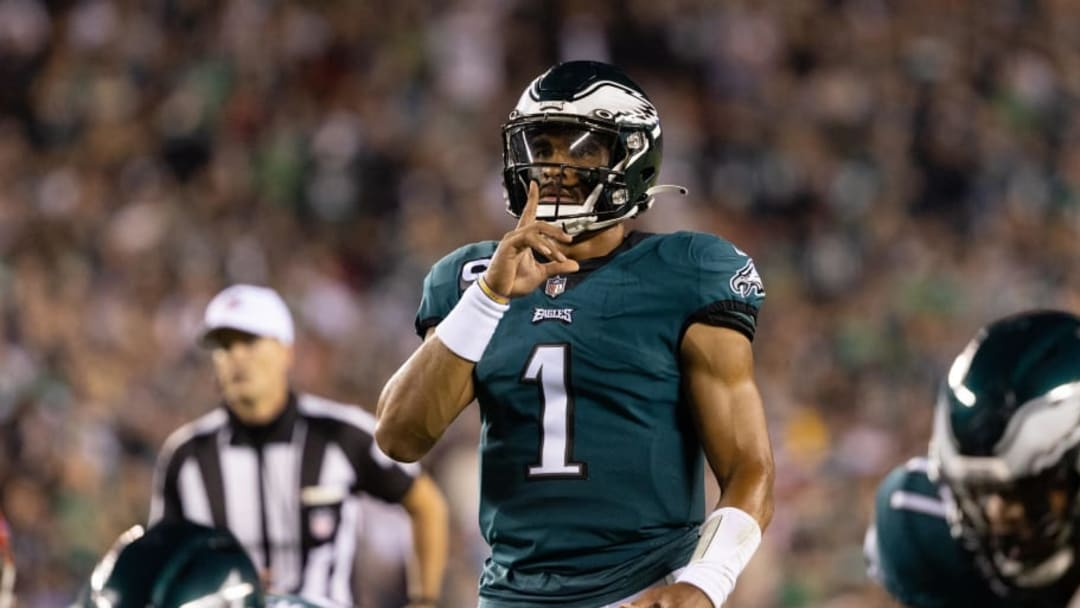 Jalen Hurts and the Eagles stunned bettors everywhere on their final drive. | Bill Streicher-USA TODAY Sports