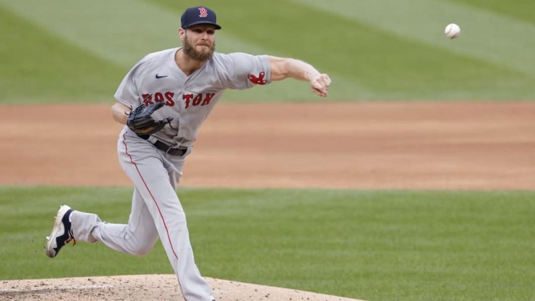 Oct 3, 2021; Washington, District of Columbia, USA; Boston Red Sox starting pitcher Chris Sale (41) | Geoff Burke-USA TODAY Sports