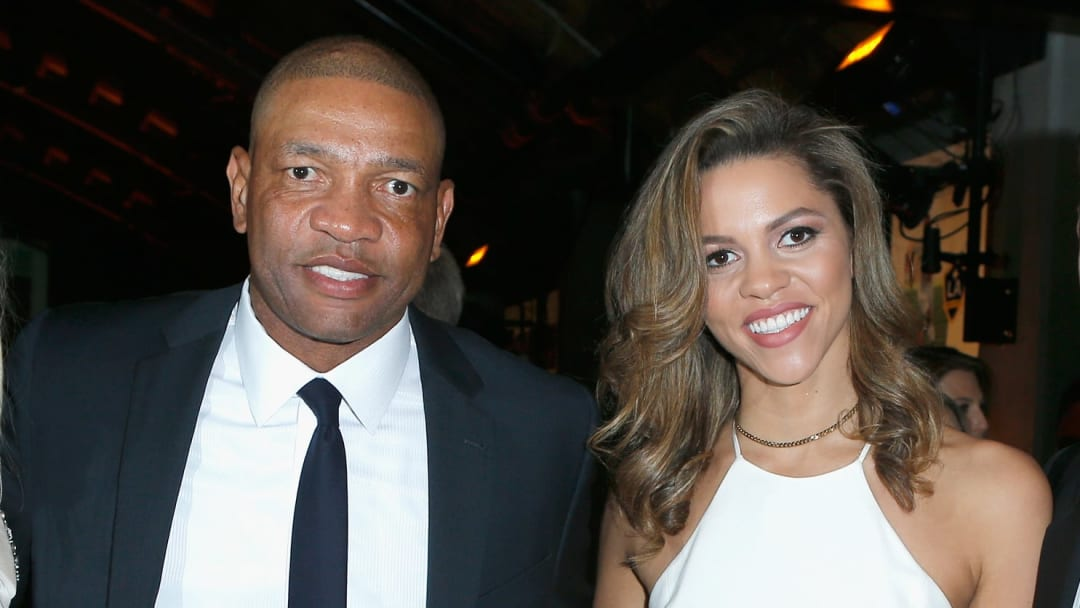 Callie Rivers with her father Doc Rivers