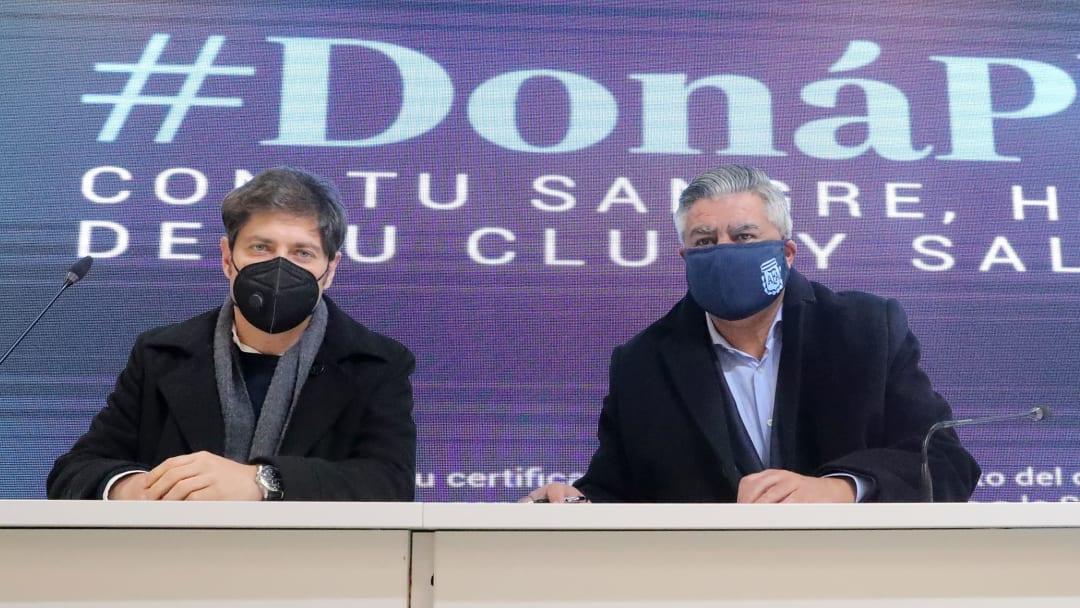 Claudio Tapia, Axel Kicillof