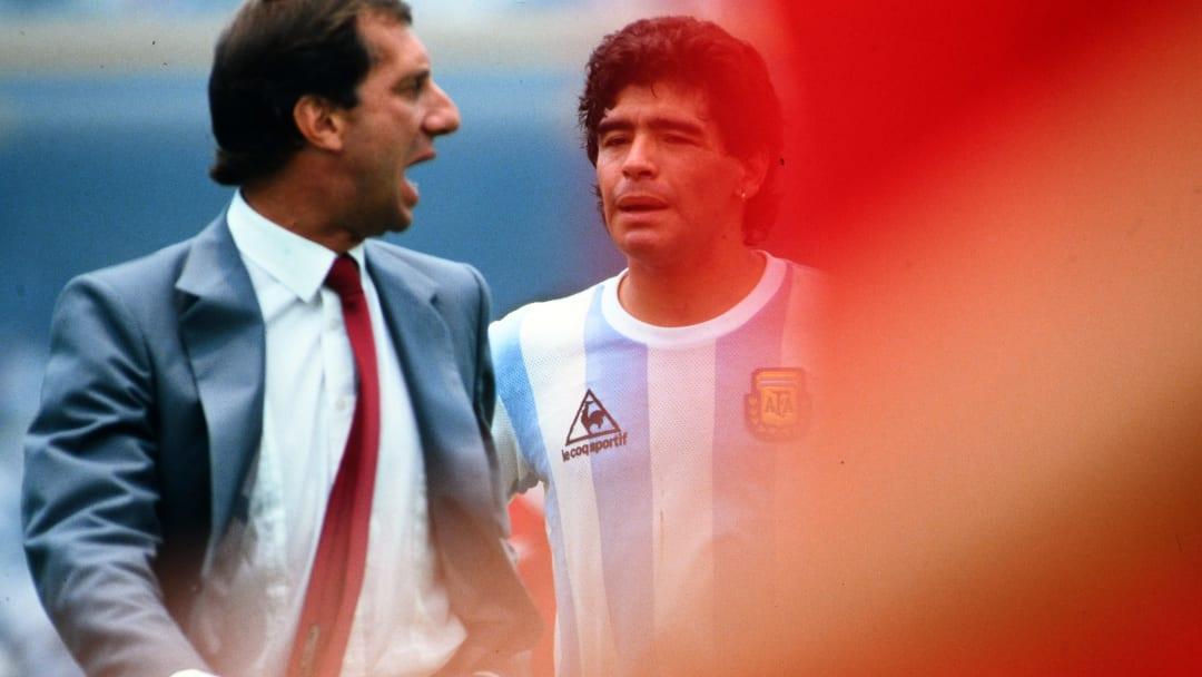 Bilardo y Maradona, estandartes de la coronación argentina en el Mundial de México 1986.