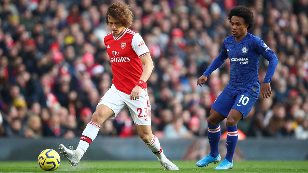 Luiz and Willian have been teammates at Chelsea and Arsenal, and played against one another