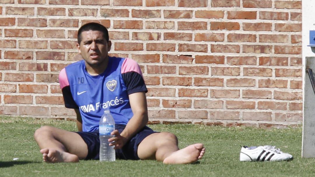 Boca Juniors Training Session - Riquelme en su época de futbolista.