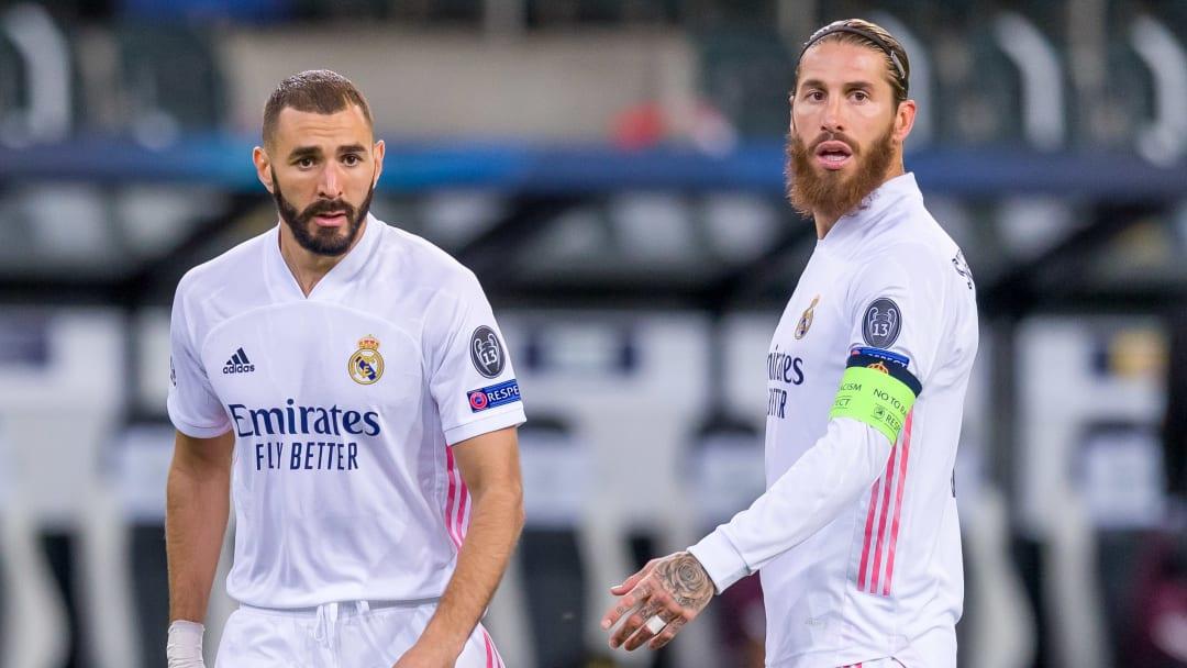 Karim Benzema et Sergio Ramos sont titulaires face à Mönchengladbach.