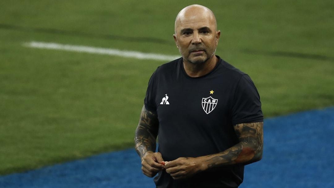 Jorge Sampaoli lors de son dernier match avec l'Atletico Mineiro.