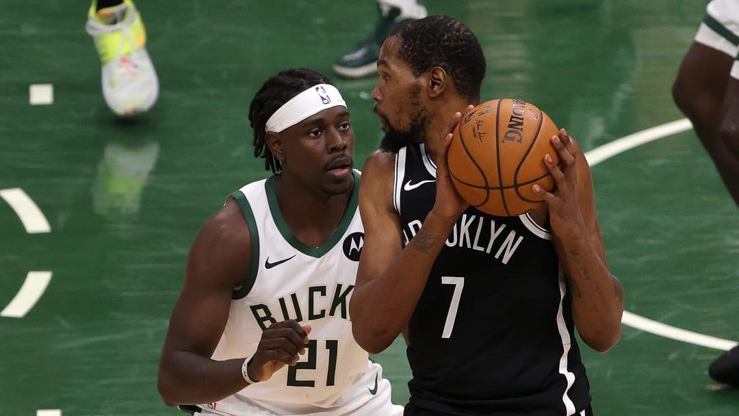Kevin Durant fue el líder ofensivo de los Nets en el quinto juego de la serie entre Bucks y Nets
