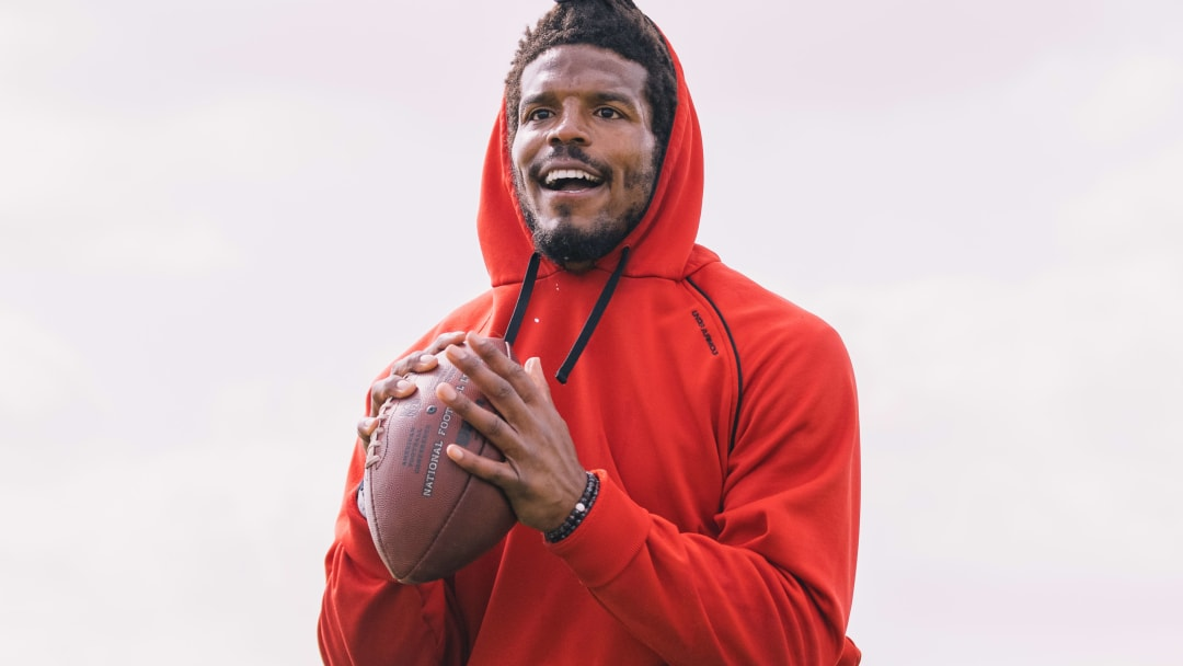 Cam Newton at Patriots West Off Season Work Out
