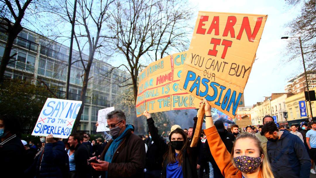 Protesta dei tifosi del Chelsea