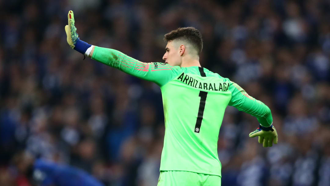 Kepa refused to be substituted in Chelsea's 2019 EFL Cup final defeat to Man City