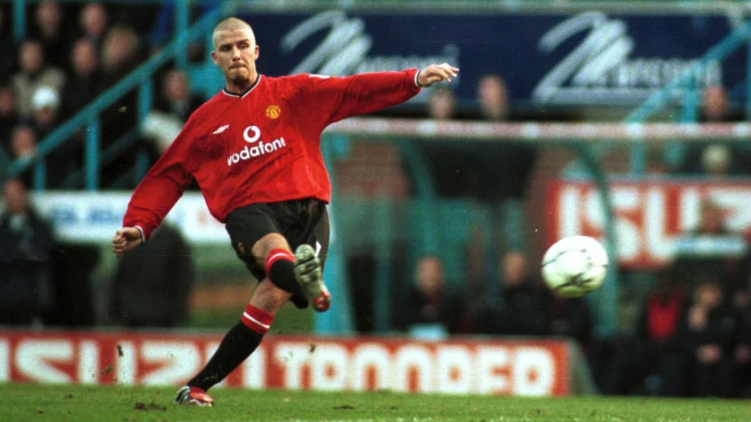 The king of the free-kick, David Beckham