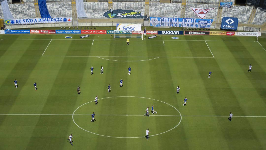 Cruzeiro Plays URT With Closed Doors as the State Championship Resumes Amidst the Coronavirus (COVID - 19) Pandemic
