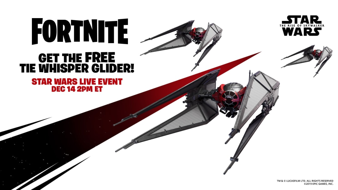 Tie Whisper Glider is part of the new event between Fortnite and Star Wars.