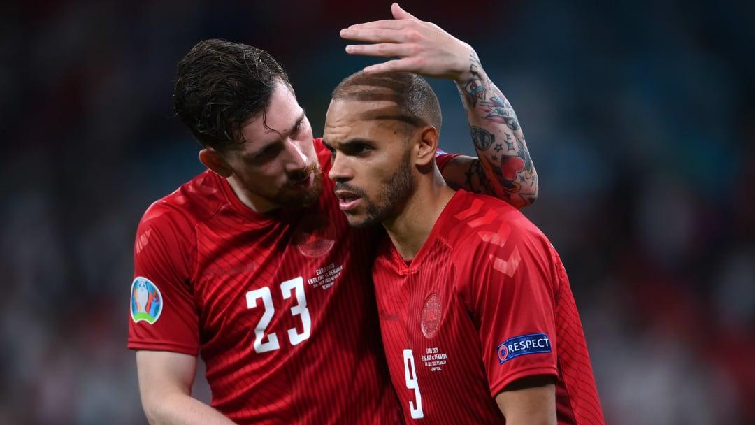 Les Danois n'ont pu masquer leur déception après ce match face à l'Angleterre.