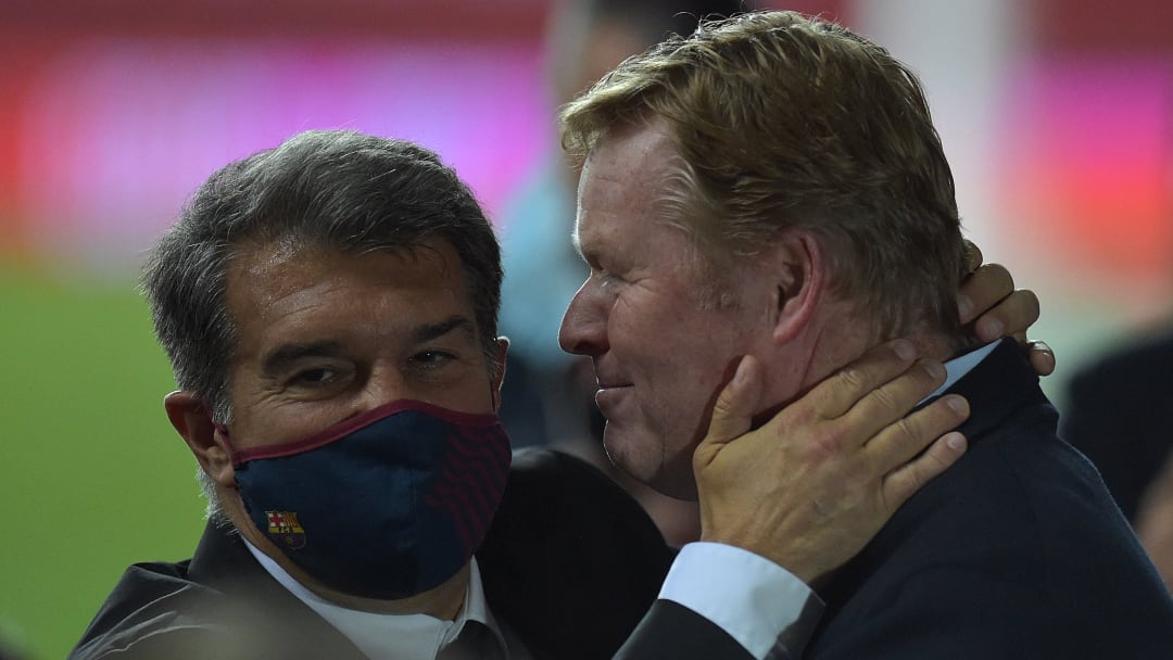 Joan Laporta has asked Barcelona manager Ronald Koeman to take a braver approach to games