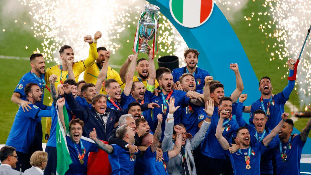 L'Italia festeggia la vittoria dell'Europeo