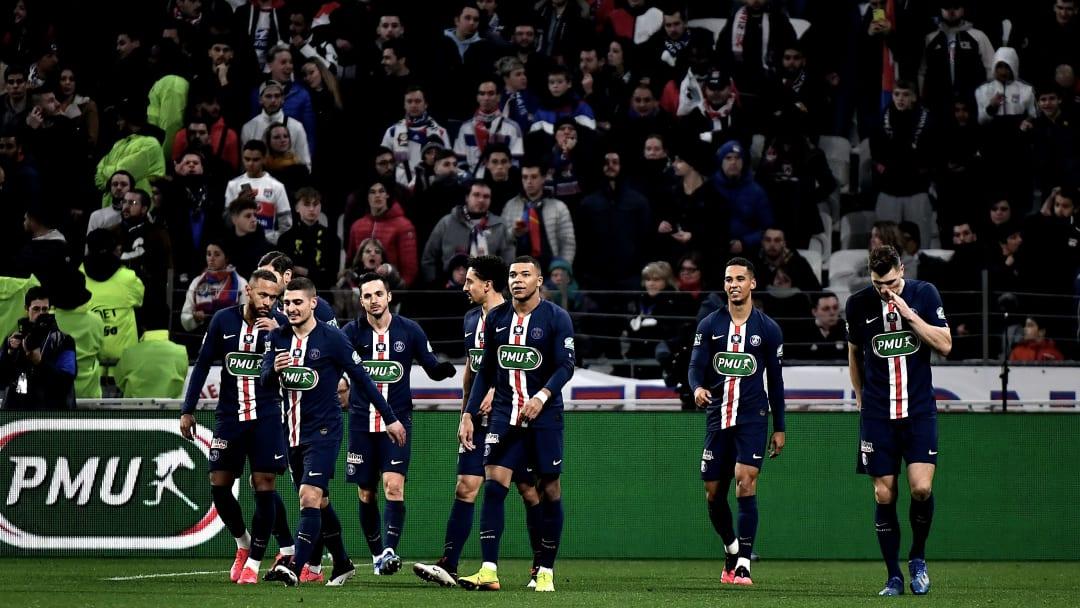 Le PSG lors de leur demi-finale de Coupe de France contre Lyon.