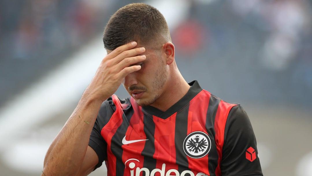 Andre Silva nach einer vergebenen Torchance