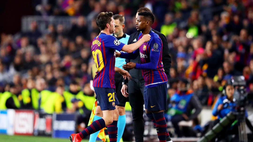 Sergi Roberto et Nelson Semedo FC Barcelone.