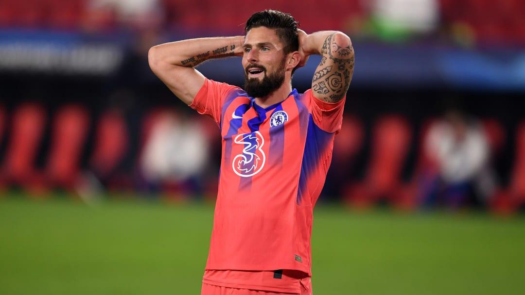 Olivier Giroud a marqué quatre buts face à Seville.