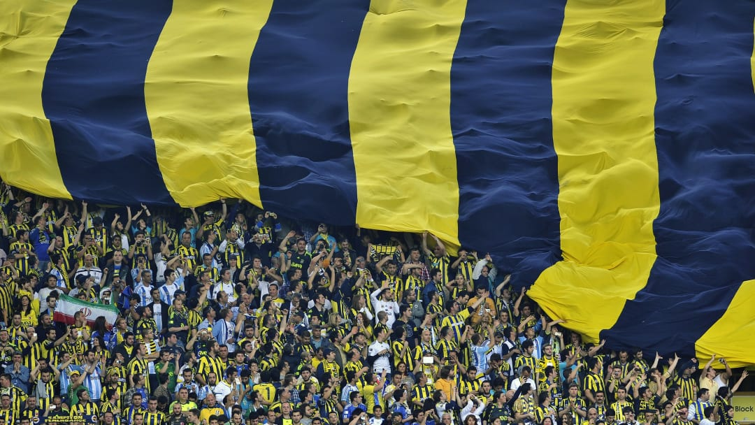 Fenerbahce's supporters unveil a giant f