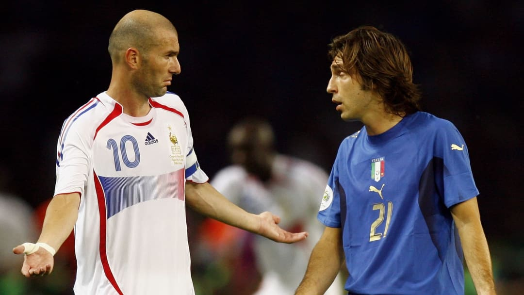 Zinedine Zidane, Andrea Pirlo