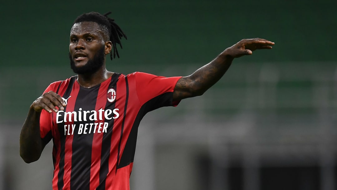 Franck Kessie of AC Milan gestures during the Serie A...