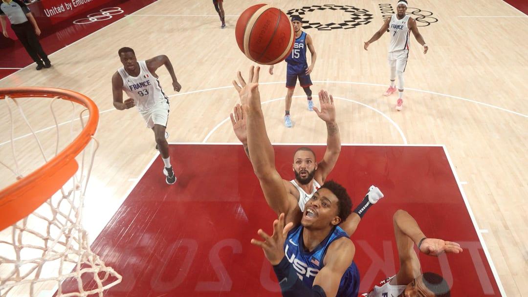 Keldon Johnson - JPN: United States v France Men's Basketball - Olympics: Day 2