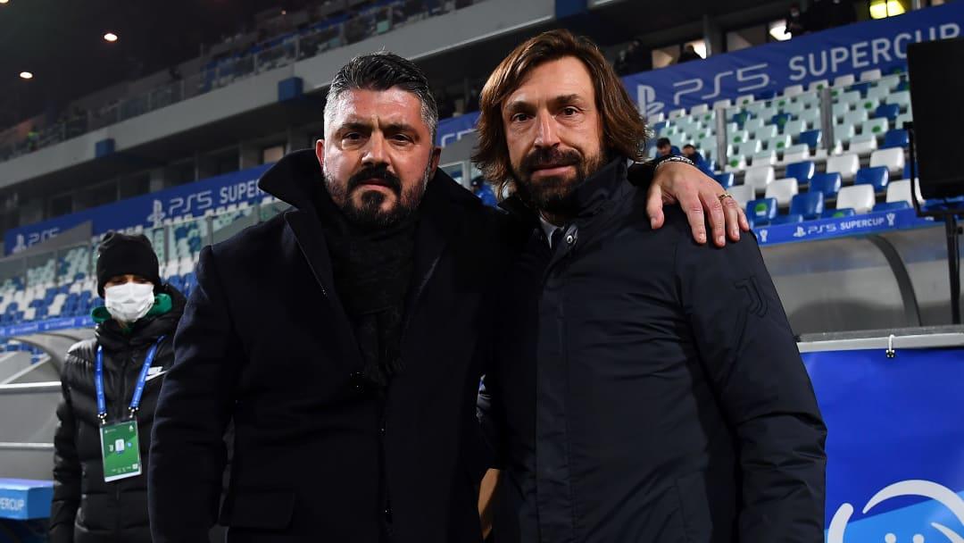 Rino Gattuso e Andrea Pirlo