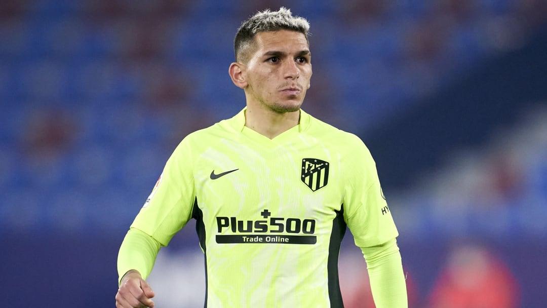 Lucas Torreira jugando en Atlético de Madrid