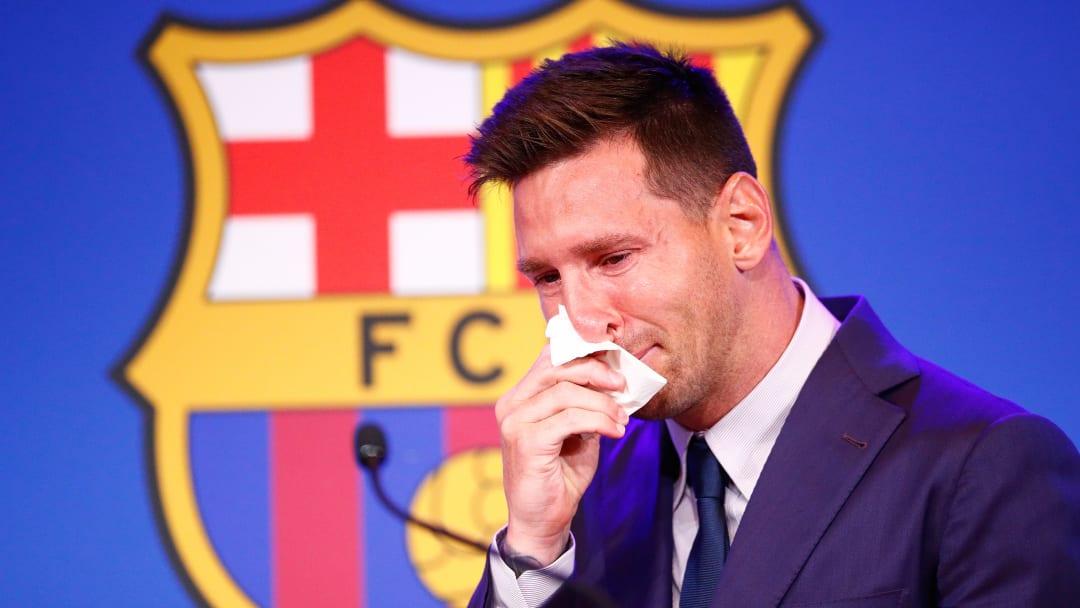 Messi chegou chorando ao auditório