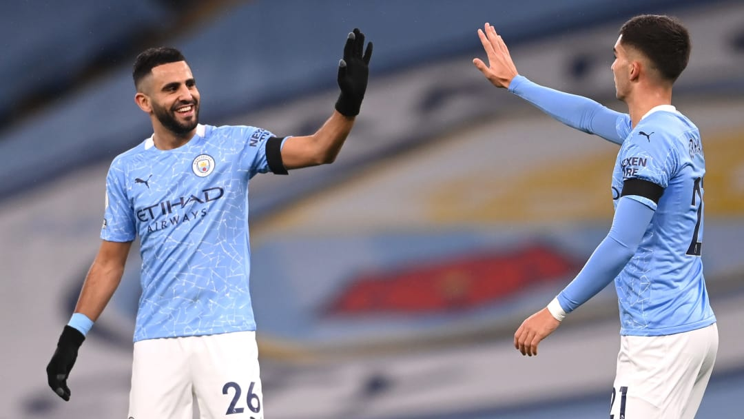 Mahrez netted a hat-trick against Burnley