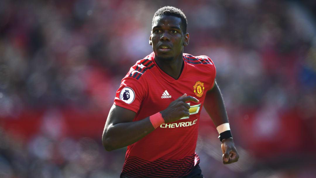 Paul Pogba sous le maillot de Manchester United.