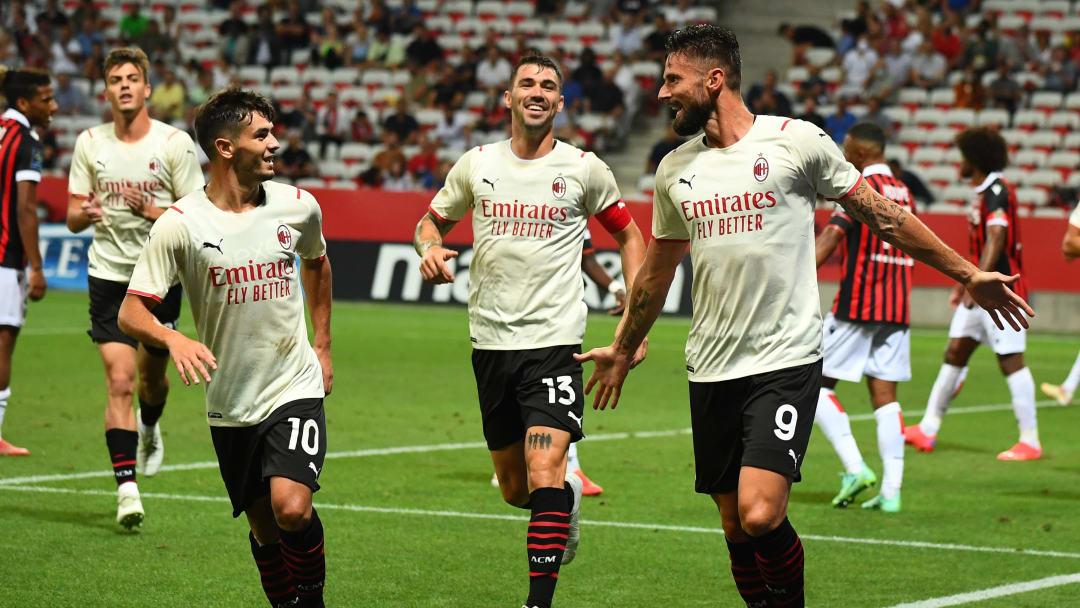 L'esultanza del Milan