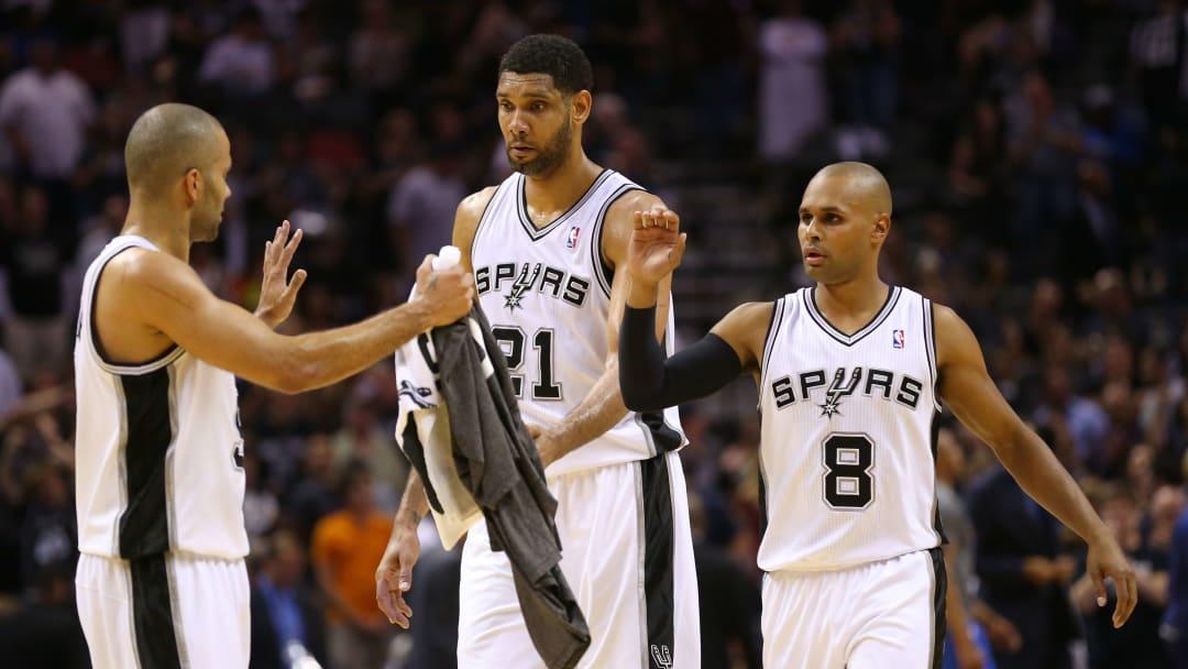 San Antonio Spurs Tony Parker, Tim Duncan, Patty Mills
