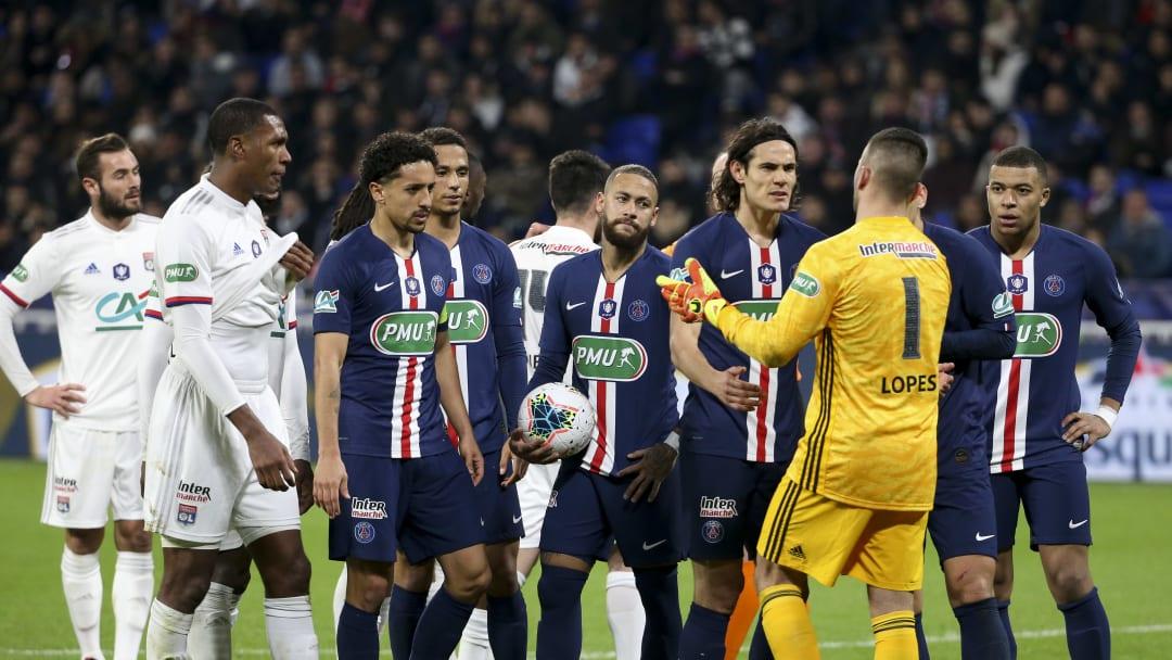 Le PSG face à l'OL en demi-finale de Coupe de France cette saison.