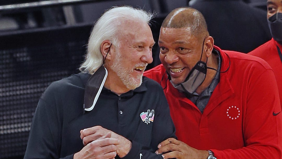 Gregg Popovich - Philadelphia 76ers v San Antonio Spurs