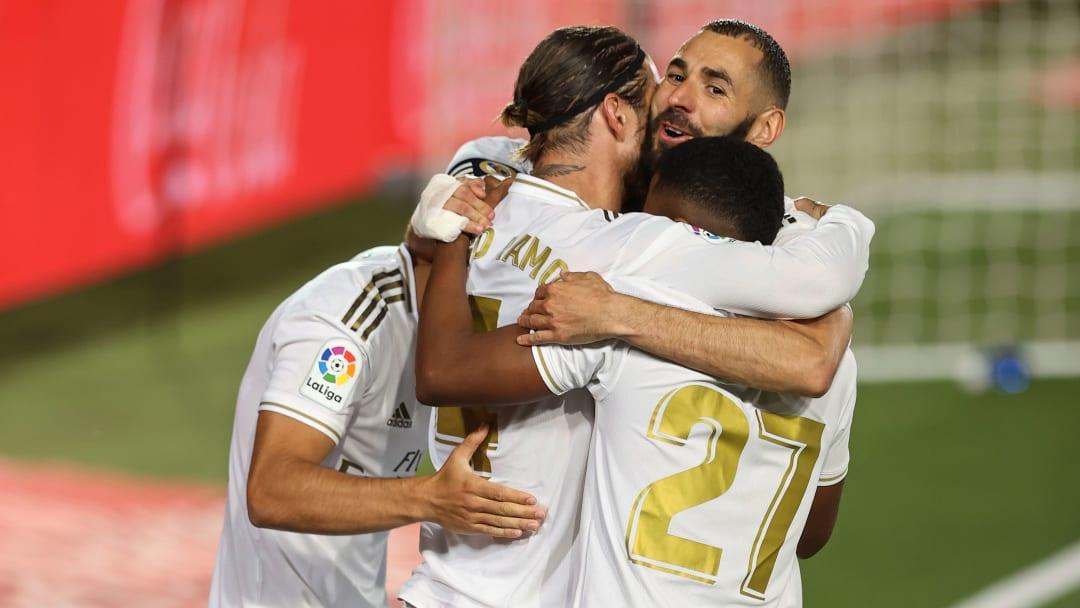 Sergio Ramos, Rodrygo Goes, Karim Benzema, Marco Asensio