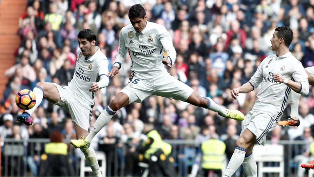 Cristiano, Varane y Morata
