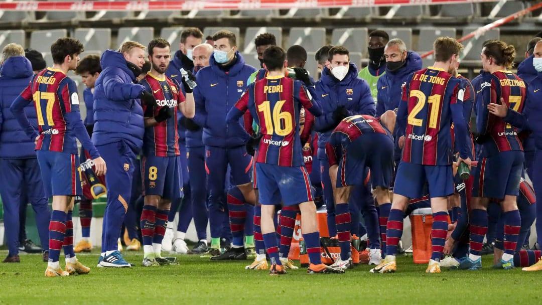 Antoine Griezmann, Frenkie De Jong, Lionel Messi, Pedri