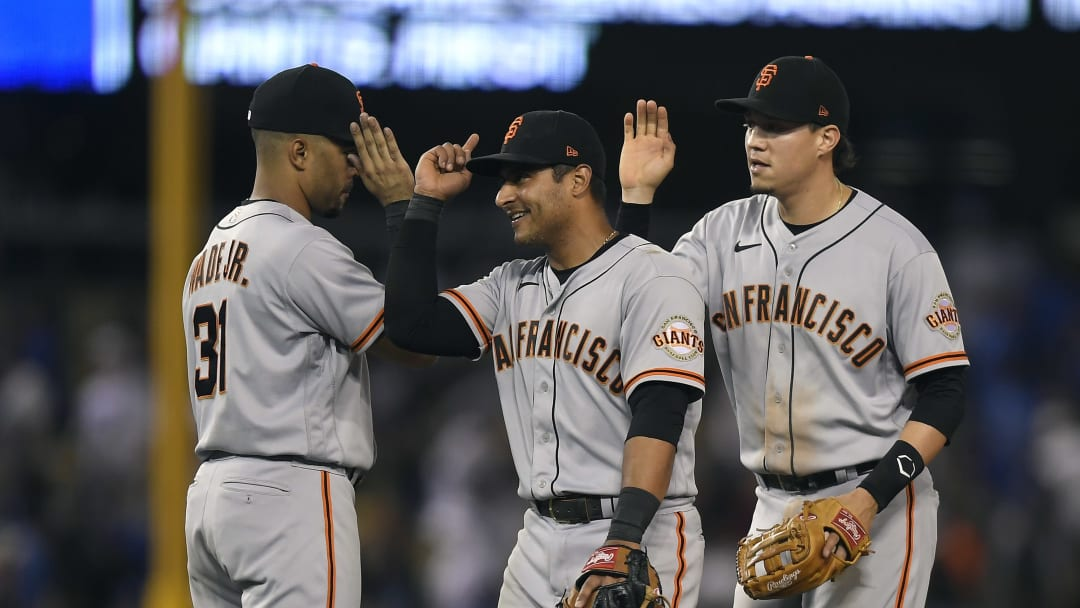 The San Francisco Giants are looking to hold off the Dodgers in the N.L. West.