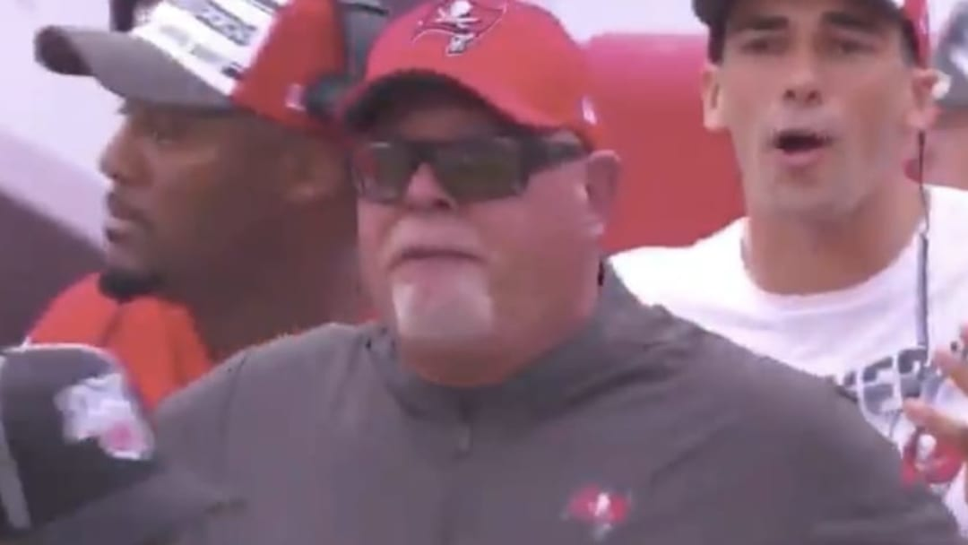 Bruce Arians was fuming after a blown fumble call