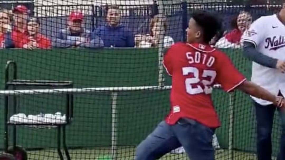Washington Nationals outfielder Juan Soto's little brother took him deep Saturday afternoon