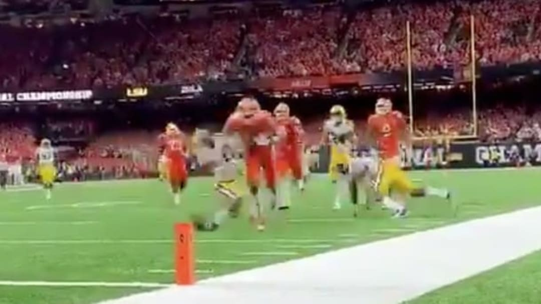 Clemson wide receiver Tee Higgins destroyed an LSU defender on his way to the end zone