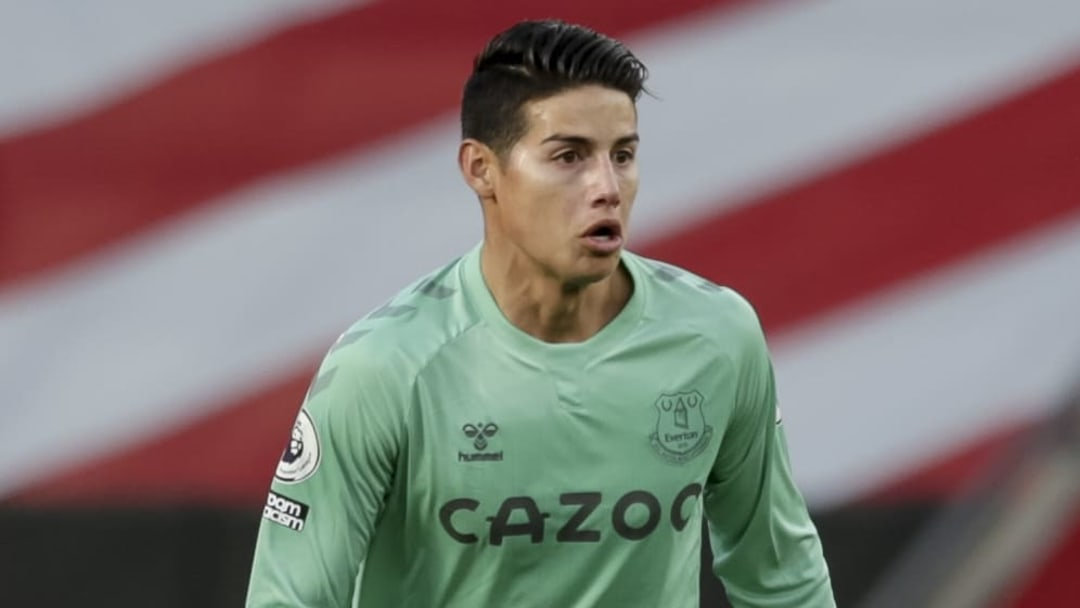 James Rodriguez joined the Toffees in summer from Real Madrid