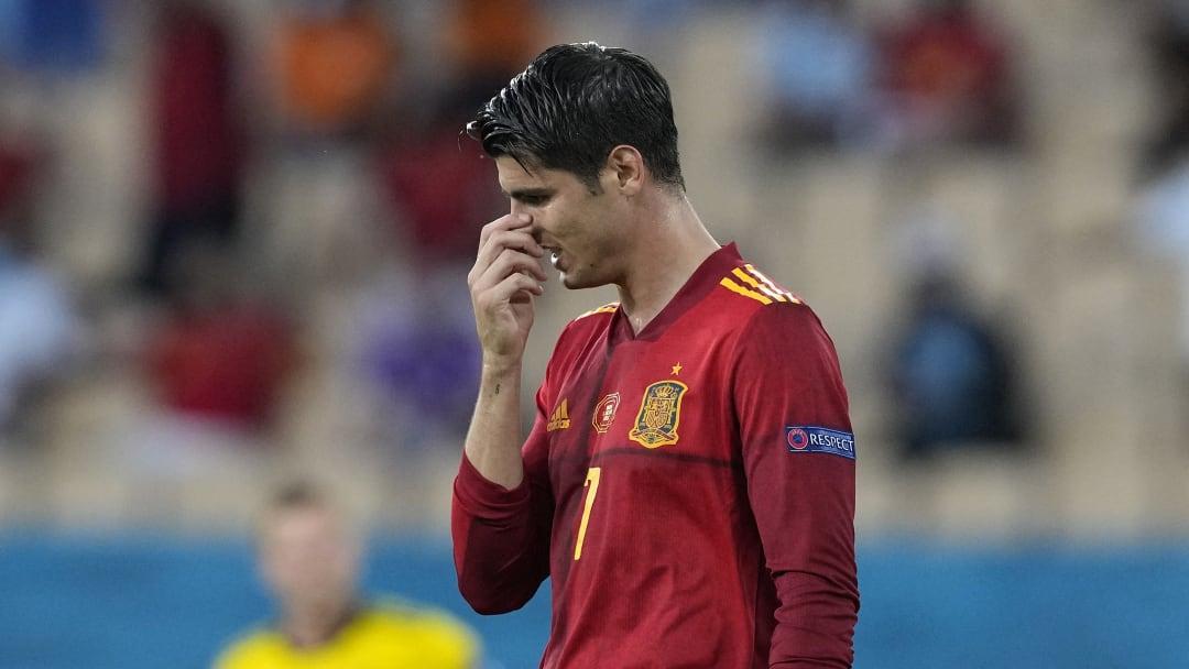 Alvaro Morata a tout raté contre la Suède ce lundi.